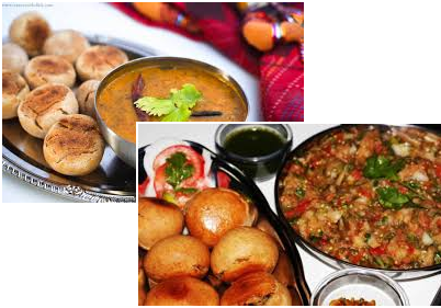 Dal Bhaati Churma and Litti Chokha