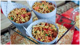 Spices of bhel puri
