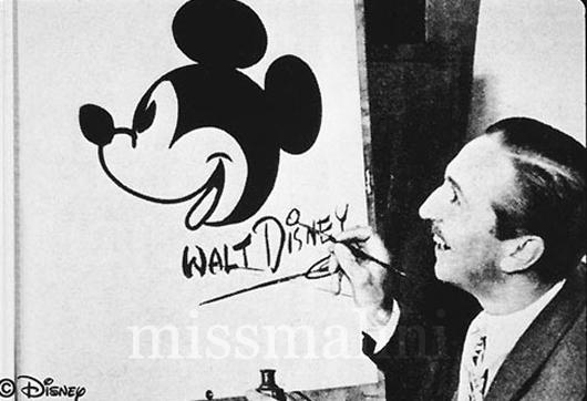 Mickey Mouse drawn by Walt Disney