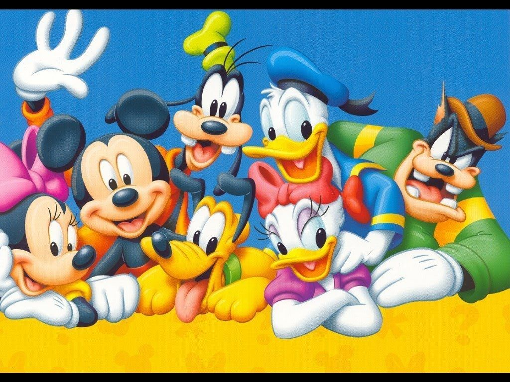 Mickey Mouse with family