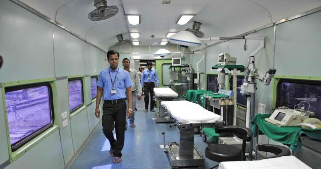 Interiors of Jeevan Rekha Express