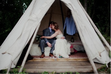 camping-wedding - exotic wedding venues