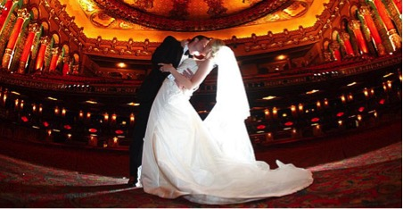 theatre wedding - exotic wedding venues