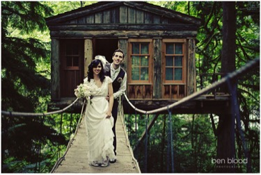 treehouse wedding - exotic wedding venues