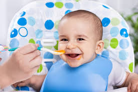 Baby Food Being Fed