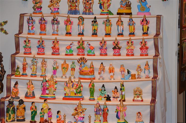 Golu celebrations during Durga Puja