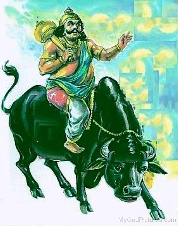 yama-mount-on-bull on Diwali
