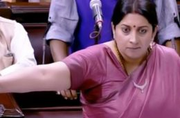 Smriti Irani objecting to unparliamentary language in the house