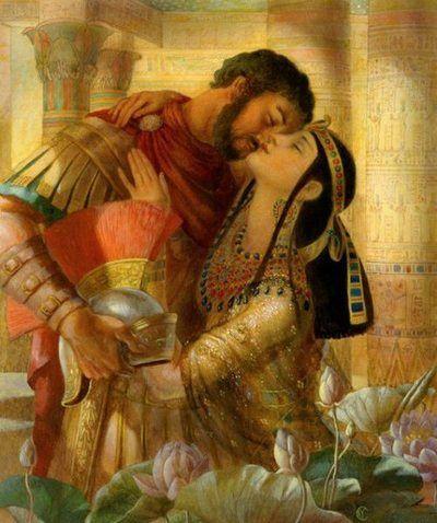 Cleopatra with Mark Antony