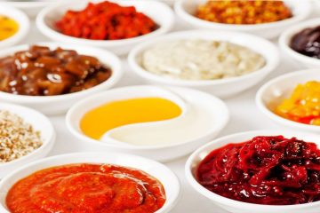Different type of food sauces