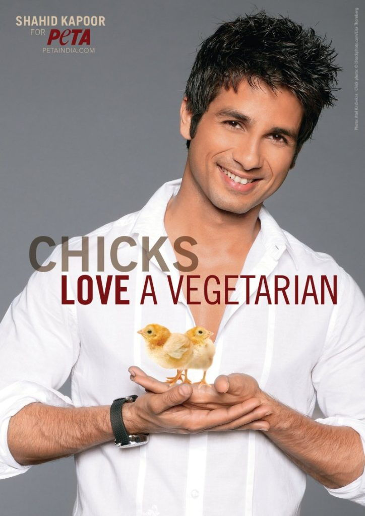 Shahid Kapoor featuring in the list of vegetarian actors