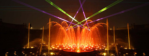 water show at Akshardham Gandhinagar
