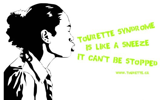 Awareness poster on Tourette